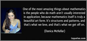 One of the most amazing things about mathematics is the people who do ...
