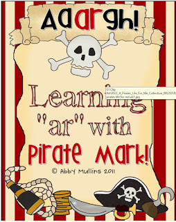 Cute Pirate Activities for learning /ar/ Words!