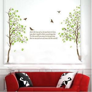 DIY-Large-Tree-Bird-Leaves-Quote-Wall-Sticker-Vinyl-Art-Decal-room ...