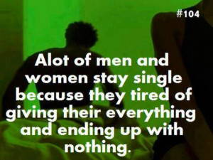 ... Awesome Stuff // Tags: Alot of men and women stay single // May, 2013