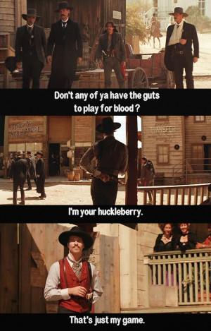 Val Kilmer as Doc Holliday = fun