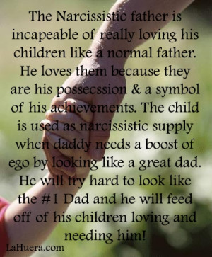 Narcissists and their children.