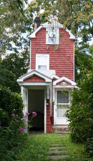 The Skinny House Tiny Red Cottage and 3 Quotes on Simplifying