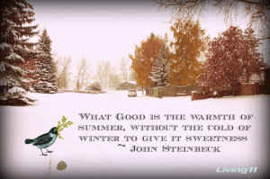 ... The Warmth Or Summer, Without The Cold Of Winter To Give It Sweetness