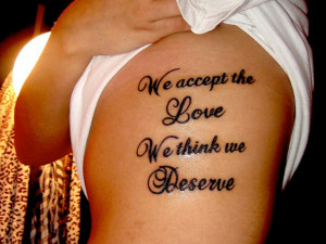 Beautiful Love Quotes Tattoos for Women