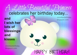 Happy Birthday for a Girl, a Little Princess. Free card, image ...