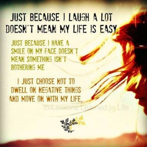 Just Because I have A Smile On My Face Doesn't mean Something Isn't ...