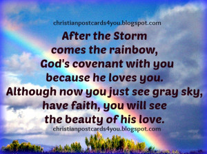 God is with you in the storm. Free christian cards for you. Christian ...