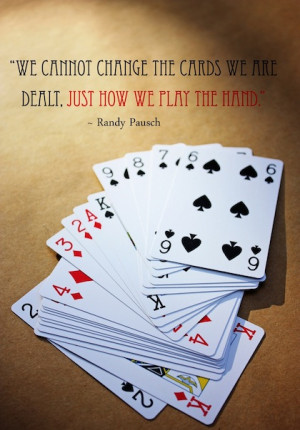 cards dealt change picture quote