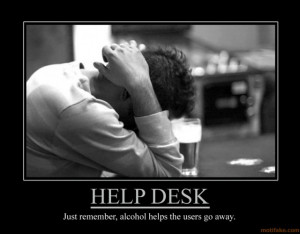 help desk - demotivational poster