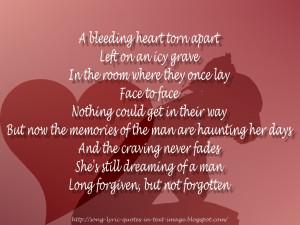 bleeding heart torn apart