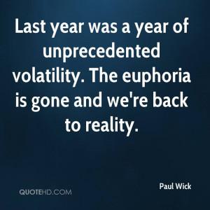 Paul Wick Quotes
