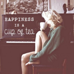 ... Earl Gray in the morning, please. She reminds me of Marilyn Monroe