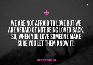afraid to love on Tumblr