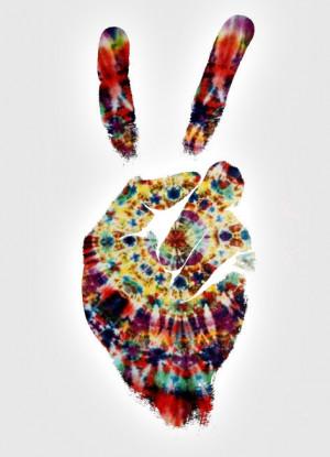 trippy mine acid peace tie dye