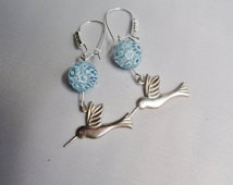 Hummingbird Earrings ./. Silvercolo red Hummingbird Earrings ...