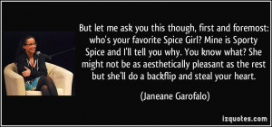 this though, first and foremost: who's your favorite Spice Girl? Mine ...