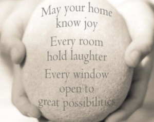 ... Quote, New Home Gift, New Home Quote, House Blessing Quote, Hostess