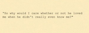 quote from The Perks of Being a Wallflower