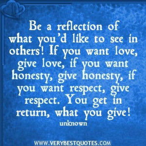 Love reflection quotes