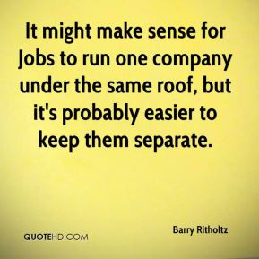 Barry Ritholtz - It might make sense for Jobs to run one company under ...