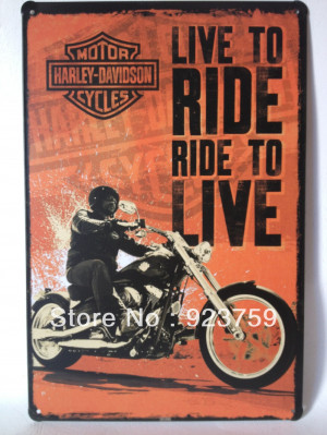 Live-to-RIDE-famous-motorcycle-Tin-Sign-Bar-pub-home-House-Cafe ...