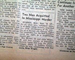 Emmett Till murder trial Not Guilty....