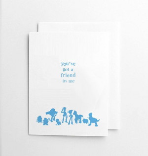 Toy Story Blank Card, Quote Card, Handmade, Film Quote, Friendship ...