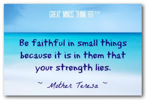 Faith Quote by Mother Teresa