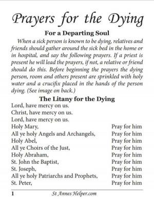 Catholic Prayers for the Dying