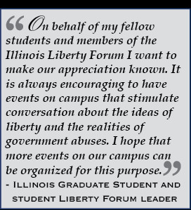 Quote: On behalf of my fellow students and members of the Illinois ...