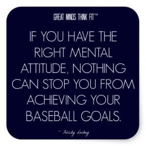 Baseball Quote 5: Attitude for Success Sticker