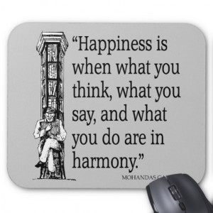 mahatma gandhi quote happiness quotes sayings mohandas mahatma gandhi ...