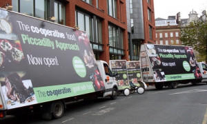 Co-op Food AdVans & AdBikes London