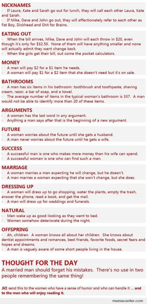 Men Versus Women Funny Quotes #17