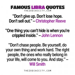 Famous Libra Quotes: Christopher Reeve, John Lennon, Will Smith