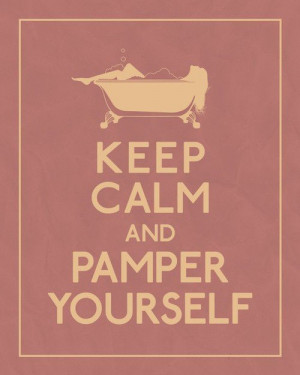 Are you taking a spa day today? How are you pampering yourself?
