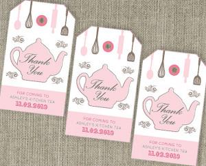 Kitchen Tea 'Teapot' - Bridal Shower Tea Thank You Party Bag Swing ...