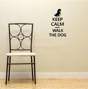 ... calm and walk the dog decals cute puppy wall art wall sayings quotes