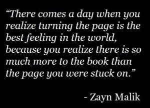 Turn the page quote