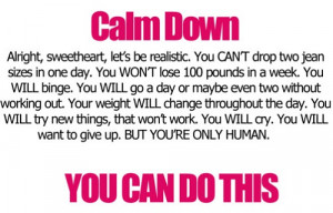 Encouraging fitness quote reminding you that you can do this!