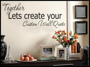 Custom Wall Quote Wall Art Wall Decal Vinyl by VinylDecorBoutique, $13 ...