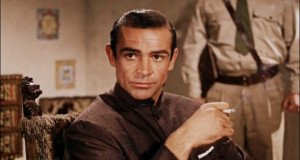 Photo of Sean Connery, portraying James Bond from