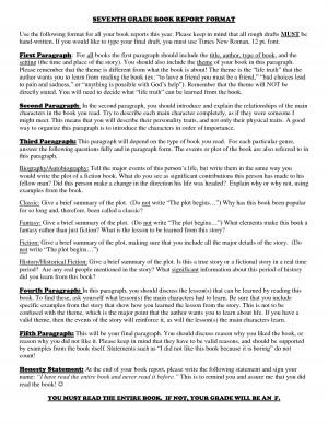 Do ninth grade book report