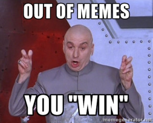 Dr. Evil Air Quotes - out of memes you