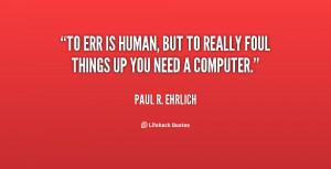 Paul R Ehrlich