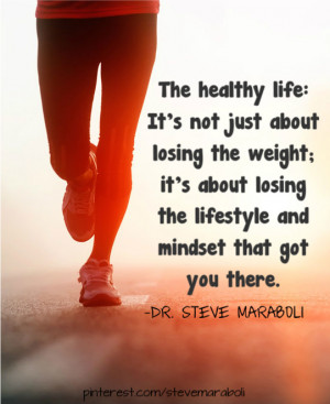 ... not just about losing the weight; it's about losing the mentality