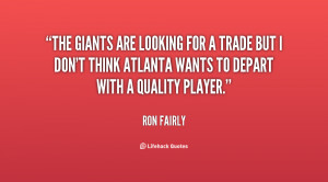 The Giants are looking for a trade but I don't think Atlanta wants to ...