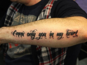 Arm Quote Tattoo for Men | Cool Man Tattoos