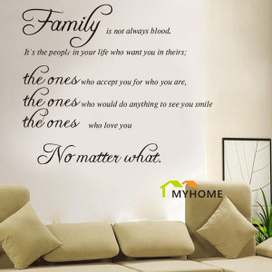 Wall-Decals-Quotes-Family-Is-Not-Always-Blood-Removable-Vinyl-Wall ...